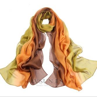 MS de seda bufandas bufandas gradiente otoño invierno cálida Bufanda mantón - Página 3