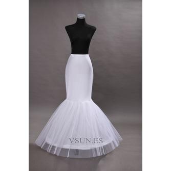 Enagua de la boda blanco vestido de boda de la sirena spandex ruedas sencillas - Página 1
