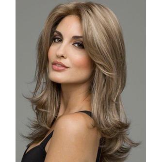 Rizado largo inclinado potro largo rizado adecuados para peluca de las mujeres - Página 1