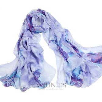 Impresos bufandas gasa cortina chal protector solar - Página 4