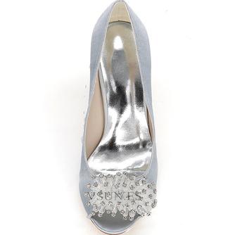 Zapatos de boda para mujer, boca baja, cabeza de pez, tacones altos, diamantes de imitación, zapatos individuales, sandalias de vestido de banquete de dama de honor - Página 8