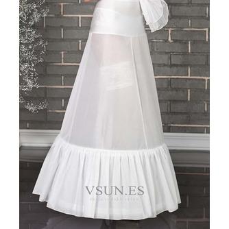 Dos ruedas glamour Terylene manga de sirena blanca enagua de la boda - Página 2