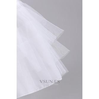Sólida red corto frameless Lange hilado doble moda enagua de la boda - Página 3