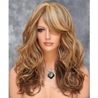 Largo rizado conveniente para las mujeres tiempo de peluca rizada - Página 1