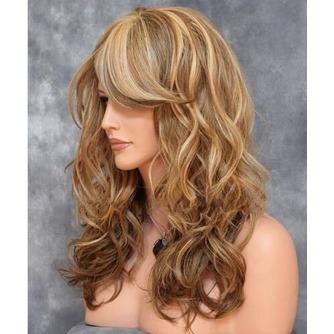 Largo rizado conveniente para las mujeres tiempo de peluca rizada - Página 3