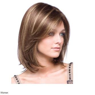 Corto recto de alta temperatura el material conveniente para las mujeres peluca - Página 1
