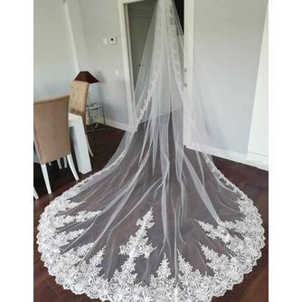 Velo de encaje de cola de iglesia velo de novia de novia velo de encaje de lujo - Página 1