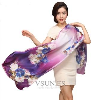 Bufanda de seda cálida bufanda de mulberry otoño invierno MS seda bufandas - Página 10