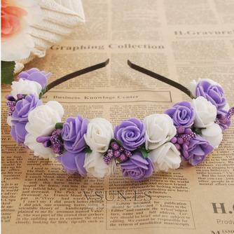Guirnaldas de flores de cinta pelo pelo de vestido de boda de las chicas de viaje niños - Página 4