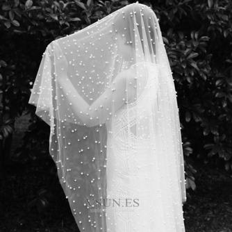 velo de perlas de lujo nupcial velo de perlas de boda velo de novia accesorios - Página 1