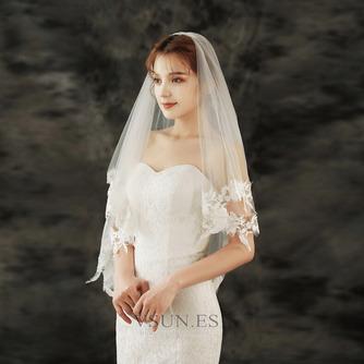Velo de novia de encaje velo de novia corto con velo peinado accesorios de boda - Página 2