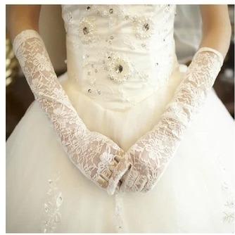 Guante de la boda Formal Encaje Encaje primavera - Página 1