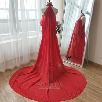 Abrigo de novia de capa de gasa negra con capa de capa - Página 5
