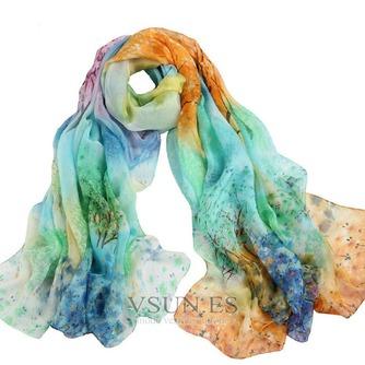 Impresos bufandas gasa cortina chal protector solar - Página 7