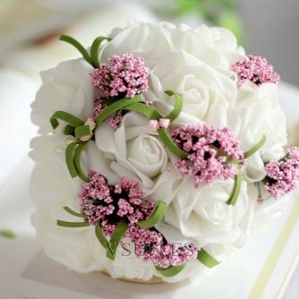 El ramo novia dama de honor boda mano de simulación flor bouquet - Página 1