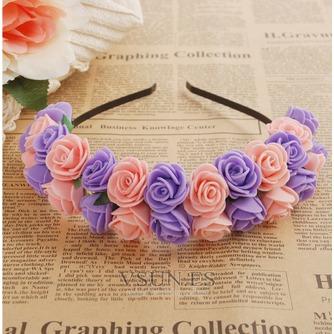 Guirnaldas de flores de cinta pelo pelo de vestido de boda de las chicas de viaje niños - Página 3
