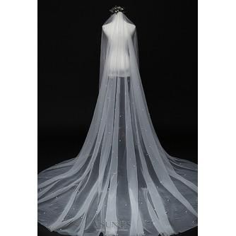 Velo de perlas novia princesa velo blanco simple 3M - Página 4