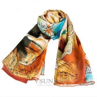 Comodín de moda bufanda de seda bufanda restaurar antiguos caminos - Página 2