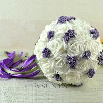 Ramos de novia blancas de la celebración de un regalo de boda ramo de novia regalo pura simulación manual - Página 2