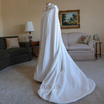 200CM chal de novia capa de satén chal blanco con capucha - Página 2