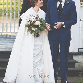 200CM chal de novia capa de satén chal blanco con capucha - Página 7
