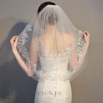 Velo corto de novia con velo peine velo de encaje delicado accesorios de boda - Página 3