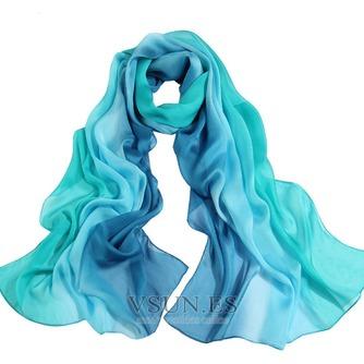 MS de seda bufandas bufandas gradiente otoño invierno cálida Bufanda mantón - Página 7