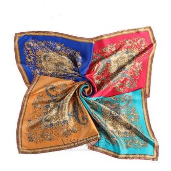 Comodín de moda nacional bufanda cuadrada pañuelo de seda restauración de antiguas formas - Página 1