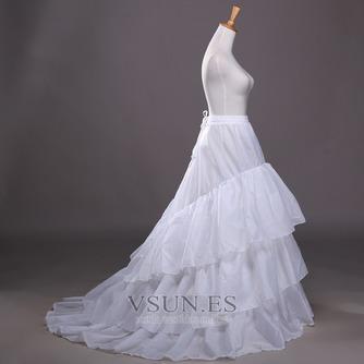 Poliéster tafetán volante vestido lleno cadena larga moda enagua de la boda - Página 3