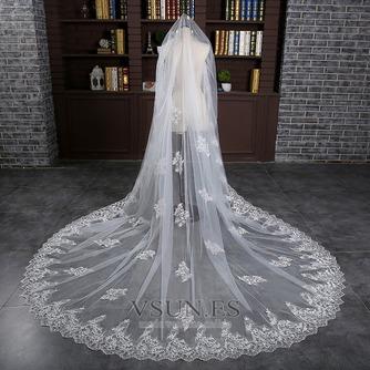 Velo alargado y ensanchado 3 metros de largo velo de cola accesorios de boda nupcial al por mayor - Página 1