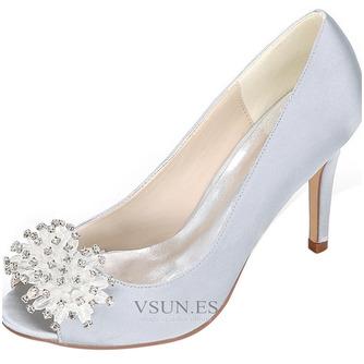 Zapatos de boda para mujer, boca baja, cabeza de pez, tacones altos, diamantes de imitación, zapatos individuales, sandalias de vestido de banquete de dama de honor - Página 6