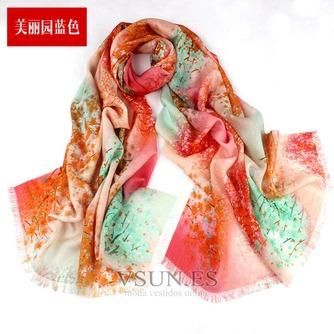 Collar de la bufanda de lana otoño e invierno para mantener a caliente joker mantón de la bufanda larga de manera - Página 5
