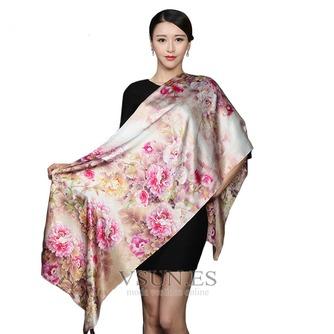 Bufanda de seda cálida bufanda de mulberry otoño invierno MS seda bufandas - Página 5