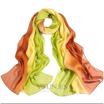 MS de seda bufandas bufandas gradiente otoño invierno cálida Bufanda mantón - Página 1