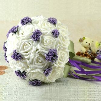Ramos de novia blancas de la celebración de un regalo de boda ramo de novia regalo pura simulación manual - Página 3