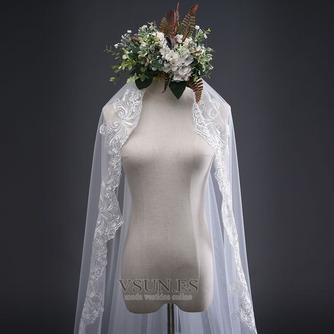 3M velo de encaje simple cola larga velo de boda velo velo - Página 4