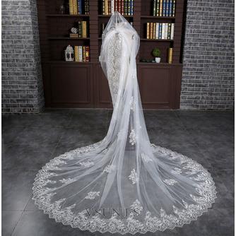Velo alargado y ensanchado 3 metros de largo velo de cola accesorios de boda nupcial al por mayor - Página 2