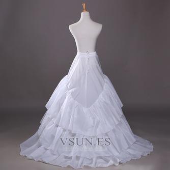 Poliéster tafetán volante vestido lleno cadena larga moda enagua de la boda - Página 2