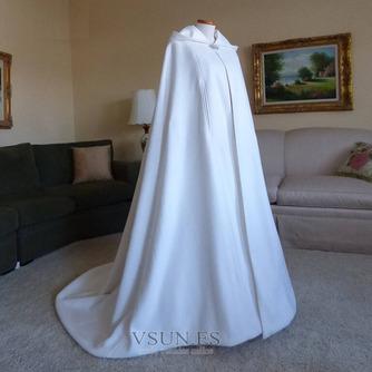200CM chal de novia capa de satén chal blanco con capucha - Página 5