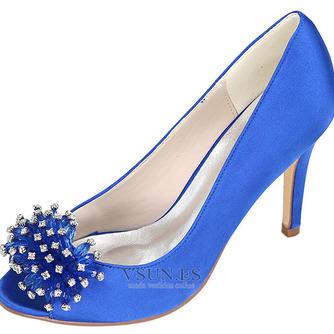 Zapatos de boda para mujer, boca baja, cabeza de pez, tacones altos, diamantes de imitación, zapatos individuales, sandalias de vestido de banquete de dama de honor - Página 4