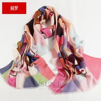 Collar de la bufanda de lana otoño e invierno para mantener a caliente joker mantón de la bufanda larga de manera - Página 10