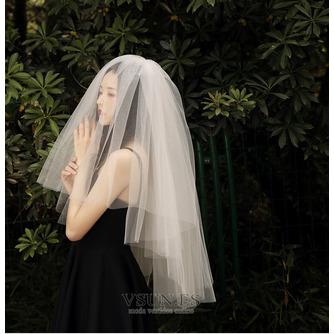 Velo corto simple velo de novia velo de novia velo corto - Página 1