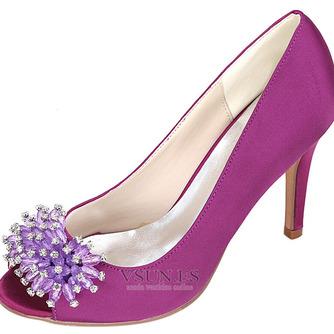 Zapatos de boda para mujer, boca baja, cabeza de pez, tacones altos, diamantes de imitación, zapatos individuales, sandalias de vestido de banquete de dama de honor - Página 5
