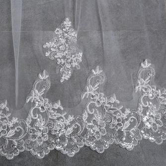 Velo alargado y ensanchado 3 metros de largo velo de cola accesorios de boda nupcial al por mayor - Página 5