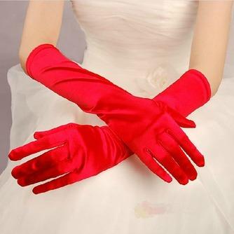 Guante de la boda Satén Elástico Otoño Formal - Página 3