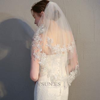 Velo corto de novia con velo peine velo de encaje delicado accesorios de boda - Página 1