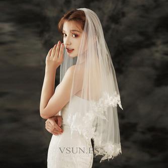 Velo de novia de encaje velo de novia corto con velo peinado accesorios de boda - Página 1