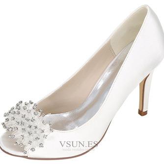 Zapatos de boda para mujer, boca baja, cabeza de pez, tacones altos, diamantes de imitación, zapatos individuales, sandalias de vestido de banquete de dama de honor - Página 2