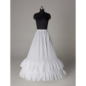 Perímetro de cintura elástico estándar boda vestido dos llantas enagua de la boda - Página 2