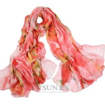 Impresos bufandas gasa cortina chal protector solar - Página 6